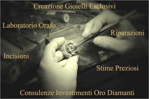 laboratorio-orafo-creazioni gioielli esclusivi riparazioni incisioni stime gioielli investimenti oro diamanti