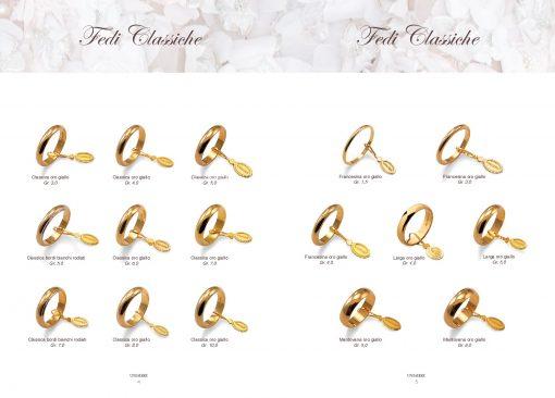 catalogo-fedi-unoaerre classiche oro giallo