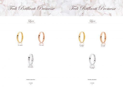 catalogo-fedi-unoaerre linea brillanti promesse modello Lyra