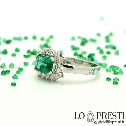 anelli anniversario fidanzamento anelli con smeraldo e diamanti gioielli con smeraldo