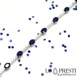 tennis bracelet with sapphires and brilliant diamonds in 18kt white gold