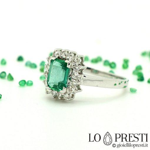 anelli con smeraldo naturale vero e diamanti brillanti anello smeraldo prezzo
