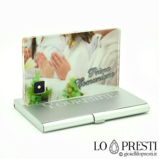 diamante blister personalizzato idea regalo foto dedica bimba diamante blister yourmine regali natale battesimo nascita comunione compleanno