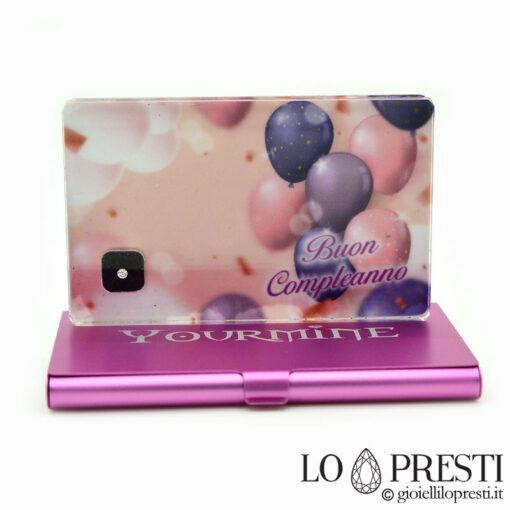 diamante certificato blister regalo personalizzato foto dedica regalo blister diamanti naturali certificati