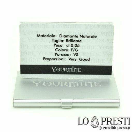 diamante certificato blister regalo personalizzato foto dedica regalo nascita battesimo bimba bimbo bebe baby