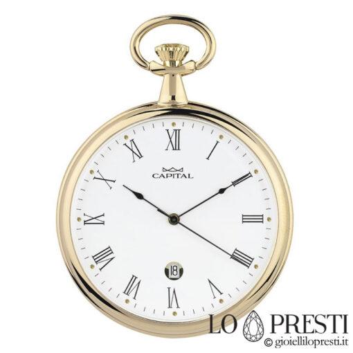 orologio tasca con data laminato